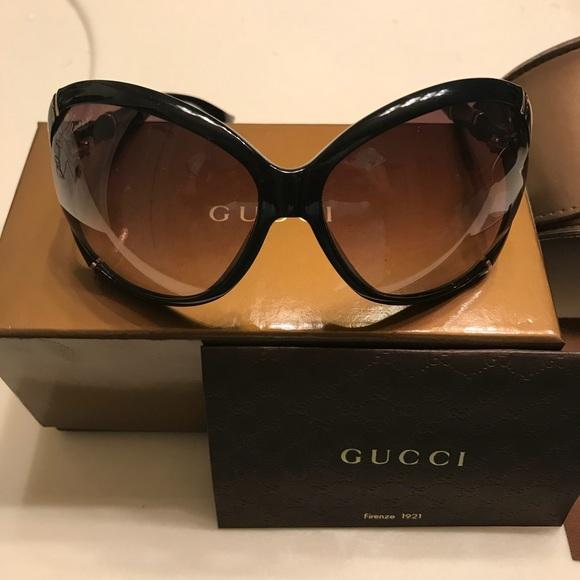 60ca1d7c9 Gucci Accessories | Brand New Black Bamboo Sunglasses | Poshmark